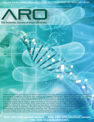 ARO Journal: Volume 7, No. 2 (2019)