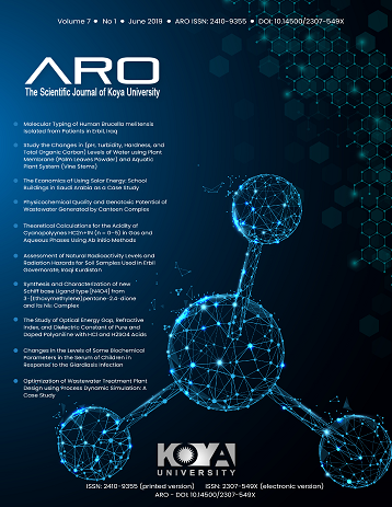 ARO Journal: Volume 7, No. 1 (2019)